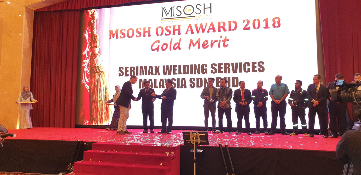 The ceremony to receive the MSOSH award