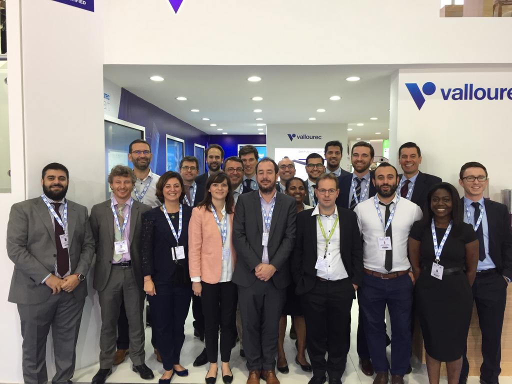 Vallourec at the ADIPEC exhibition and conference - group photo