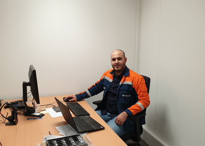 mohammed larabi at his desk
